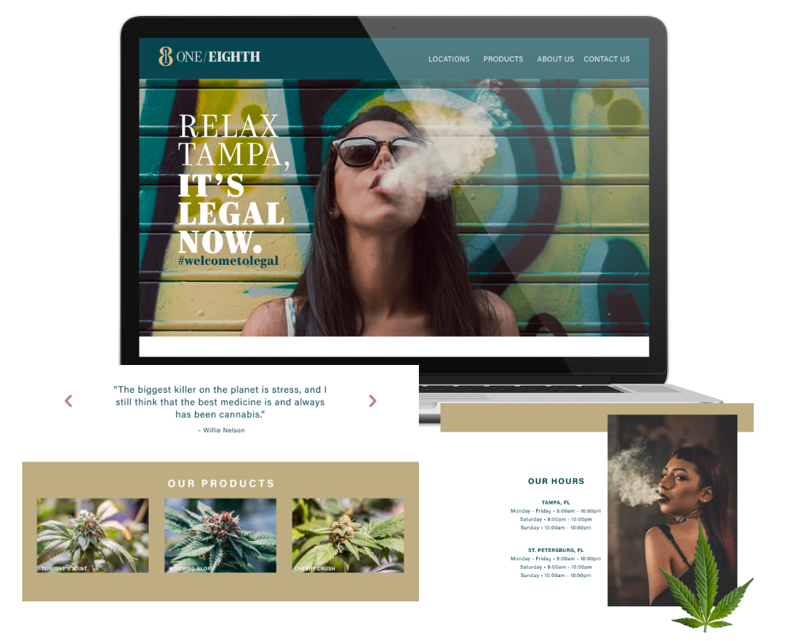 Denver Colorado cannabis dispensary website design and development